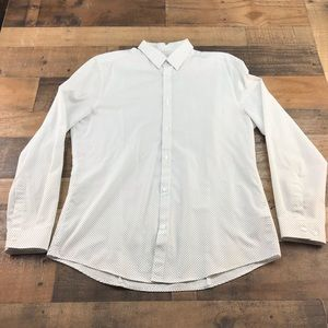 H&M EASY IROM SLIM FIT MENS SHIRT LARGE